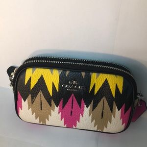 Coach tribal print crossbody
